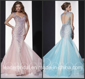 Pink Blue Vestidos Tulle Panoply Party Prom Gown Evening Dress EV14680 pictures & photos