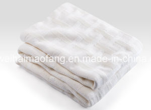 Woven Herringbone Weave 100%Cotton Blanket pictures & photos
