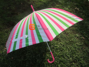 23inch Heat Transfer Print Straight Umbrella (YSS0060)