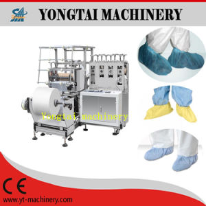 Full Elastic Cleanroom Uppers Hypalon Sole Shoe Cover Making Machine pictures & photos