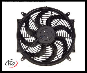 "Auto 14"" AC Fan 12V/24V 80W, Blower / Suck Air Fan, Bent Leaves.   pictures & photos"