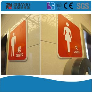Acrylic Toilet Wall Mounted Sign pictures & photos