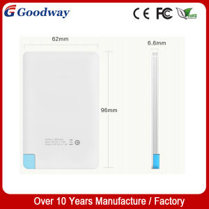 Super Thin Name Card Power Bank, 2500mAh Polymer Power Charger
