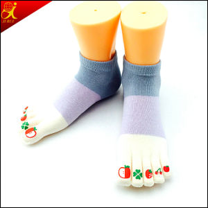 Cotton Material Custom Toe Sock pictures & photos