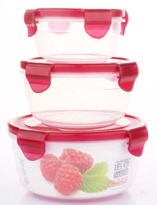 3PCS Clear Plastic Food Container pictures & photos