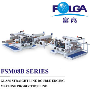 Glass Straight Line Double Edging Machine Production Line (FSM0825BL+FPT2516+FSM0816BL) pictures & photos