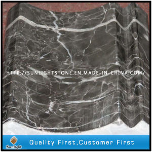 Polished Chinese Hang Grey Marble Border Line Tiles for Decorative pictures & photos