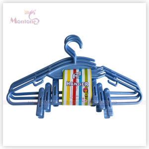 3 PCS/Set Flat Plastic Clothes Hanger pictures & photos