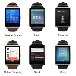 3G Smartwatch Android Phone Core 1.3GHz GPS WiFi Bluetooth 4.0 pictures & photos