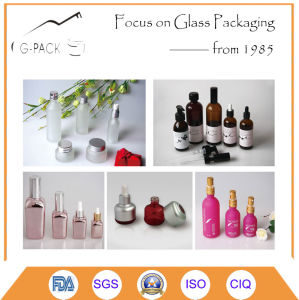 Green Color Glass Cosmetic Bottles pictures & photos