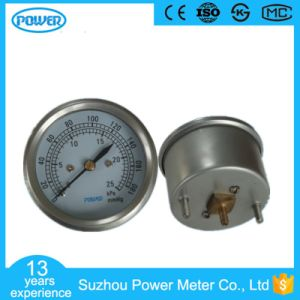 60mm Stainless Steel Case 25kpa Bellows Manometer pictures & photos
