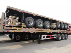 Flat Bed Container Semi Trailer of 40FT pictures & photos