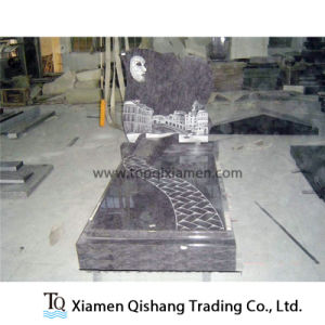 Unique Design Bahama Blue Granite Monument for European Market