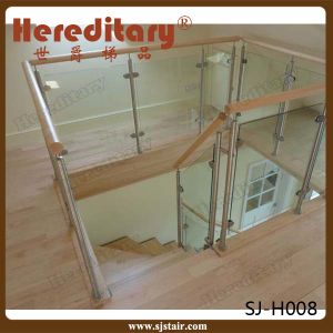 Stainless Steel Glass Balustrade with Top Handrail for Staircase (SJ-S097) pictures & photos