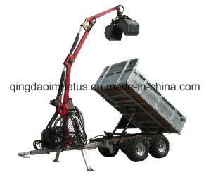 1.5ton Log Trailer with Crane and Ce Certificate pictures & photos