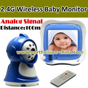 2.4G Wireless Babay Monitor, Analog Signal, 3.5inch LCD, Two Way Talk, Distance 100m, with Remote Control (NC-830)