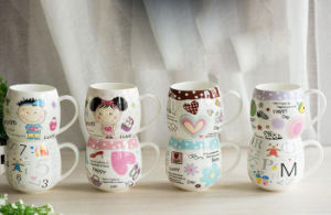 Promotional Ceramic Cups with Carton Printing for Gifts pictures & photos