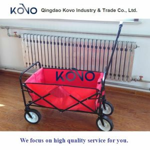 Folding Collapsible Utility Wagon Garden Cart Shopping Buggy Beach pictures & photos
