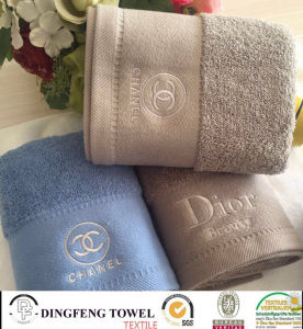 100% Cotton Promotional Gift Towel Set with Logo Embroidery pictures & photos