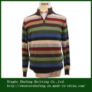 Men′s Basic Stripe Pullover Sweater Nbzf0043