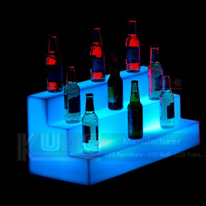 LED Wine Display 3 Tiers Illuminated LED Lighting pictures & photos
