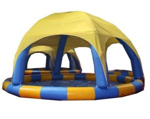 Inflatable Swimming Pool with a Tent