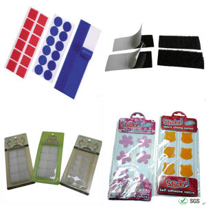 Square Sticky Glue Adhesive Hook Loop Fastener pictures & photos