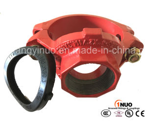 "High Quality Ductile Irongrooved Mechanical Tee (FM/UL) 165.1*2"" pictures & photos"