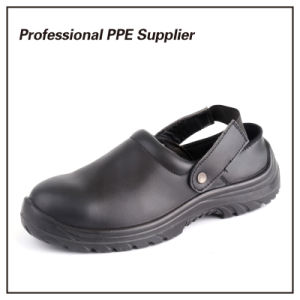 Genuine Leather Steel Toe Summer Slipper Safety Shoe pictures & photos