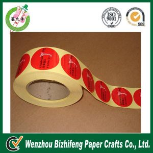 2014 Red Color Adhesive Sticker in Roll