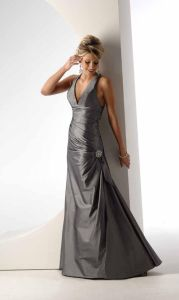 Popular Silver Halter Long Mermaid Evening Dresses (ED3024) pictures & photos