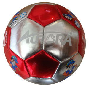 Machine Stitched Shiny PVC Football/Soccer Ball pictures & photos