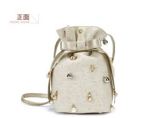 Linen Canvas Matched PU Designer Bucket Bag Handbag (LDO-01688) pictures & photos
