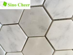 Small Hexagon White Marble Mosaic Tiles pictures & photos