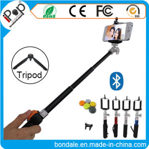 Little Aluminum Bluetooth Selfie Stick Remote Shutter with Smartphone