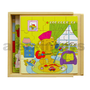 Wooden Puzzles in Wooden Box (80139) pictures & photos