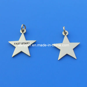 Stainless Steel Star Tags, Jewelry Pendant Tags, Charms pictures & photos