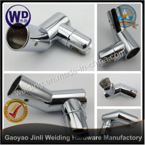 Shower Round Tube Support Bar Bracket Tube Connector Wt-6629 pictures & photos