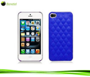 Fashion Inspired Luxury Quilted Mobile Phone Case for iPhone 5 (Navy blue)