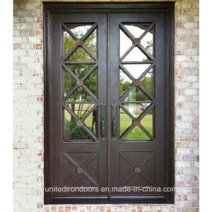 Contemporary Style Wrought Iron Double Door (UID-D079) pictures & photos