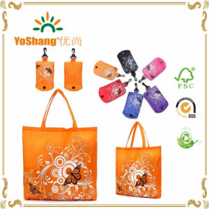 Reusable Eco Shopping Bag Folding Shoudler Bag in Pouch Clip Random pictures & photos