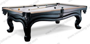 Piano Pool Table Solid Wood with Slate Billiard Table