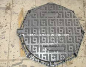 Ductile Iron Casted Manhole Cover and Frame En 124 D400 pictures & photos