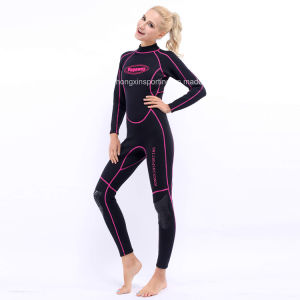 Women`S Long Wetsuit with Black Nylon Both Sides (HX-L0172) pictures & photos