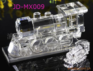 Business Gifts Crystal Glass Train Transportation Model pictures & photos