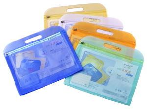 Ec-Friendly PVC Zipper File Bag with Handle pictures & photos
