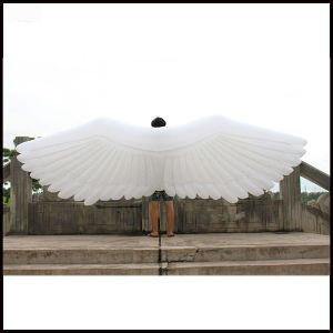 Length 4m New Product Inflatable Model Oxford Cloth White Large Angel Wing Inflatable Wing/Inflatable Model pictures & photos