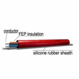 2X0.22mm2 FG FEP Insulation Silicone Rubber Sheath Heat-Resisted Cable