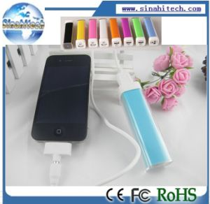 New Lipstick Portable Power Bank External Battery Charger Power Pack for Samsung/ iPhone Mobile Phone pictures & photos