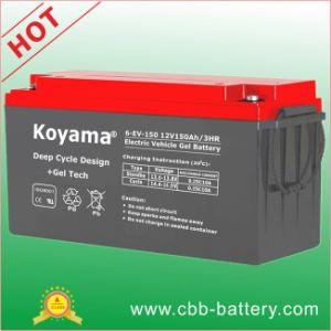 12V150ah E-Bike Electric Vehicle Deep Cycle Gel Battery pictures & photos
